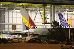 A380 Asiana (Viictor B) Tags: france night plane europe a380 delivery toulouse runaway airlines spotting rd tls asiana taxiway superjumbo lfbo