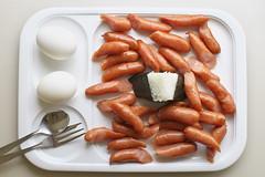 PA270106 (ichi16) Tags: food breakfast hotel egg sausage fork spoon wiener buffet viking    riceball