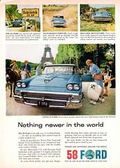 1958 Ford Fairlane 500 Town Victoria 4-Door Hardtop (aldenjewell) Tags: door paris tower ford hardtop four town 4 ad eiffel victoria 1958 500 fairlane
