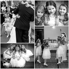 193/365 ~ Nanny's Flower Girls (sharona 315 사론아) Tags: wedding girls white black flower anne photo shoot nanny angels cuteness project365 areyoukiddingme
