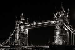 Tower Bridge, London (Nic Taylor Photography) Tags: bw london night towerbridge blackwhite sony landmark nighttime 30faves 10faves 20faves 40faves sonyalpha sonya77 sonyslta77