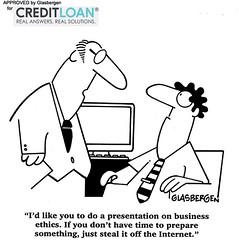 Can't Do The Business Presentation? (CreditLoan.com) Tags: boss funny jobs lol cartoon jokes presentation