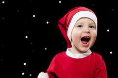 Merry Christmas II (Ilkka Hakamäki) Tags: lighting christmas xmas red black kids children kid nikon child bokeh flash sigma son elf card setup strobe 2470 strobist d7000
