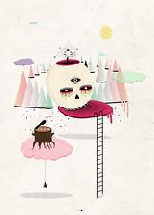 trance (Alba Blzquez) Tags: bird art illustration print skull design graphics surrealism horror terror designs diseo ilustracin flickrandroidapp:filter=none albablazquez