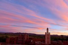 Sunset Ouazarzate. (Victoria.....a secas.) Tags: sunset sky clouds atardecer mosque cielo nubes mezquita marruecos ouazarzate