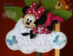 M&M (Mimos & Feltrices) Tags: mouse artesanato felt mickey porta quarto minnie feltro menina menino enfeite