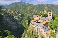 St Martin du Canigou 051 (agabarka) Tags: mountain france church rock landscape monastery languedoc d90 nikon90