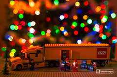 Gettin' ready for the big day! (fatcatimages LLC) Tags: santa christmas lego christmaslights minifigures