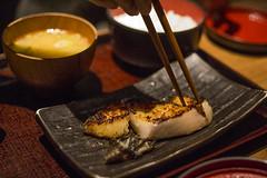 銀ダラ西京焼き (mijabi) Tags: fish japan digital canon eos ginza rice 日本 東京 東銀座 銀座 居酒屋 魚 6d ごはん washoku 米 和食 carlzeissjena 焼き魚 pancolar 干物 パンカラー カール・ツァイス・イエナ