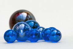 Just Marbles  17/365 (pollylew) Tags: stilllife highkey marbles glassmarbles