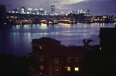 Jan 1972 - Sydney Harbor at night