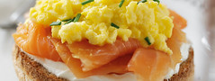 Scrambled Eggs with Smoked Salmon (greece_fage) Tags: flair gouda edam        syntages sintages suntages       regato