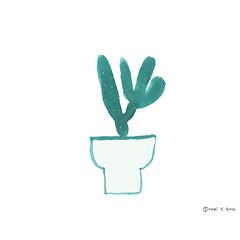 Cactus II ( ) Tags: cactus plants illustration graffiti graphic books illustrator tsubi webookme horibgoode