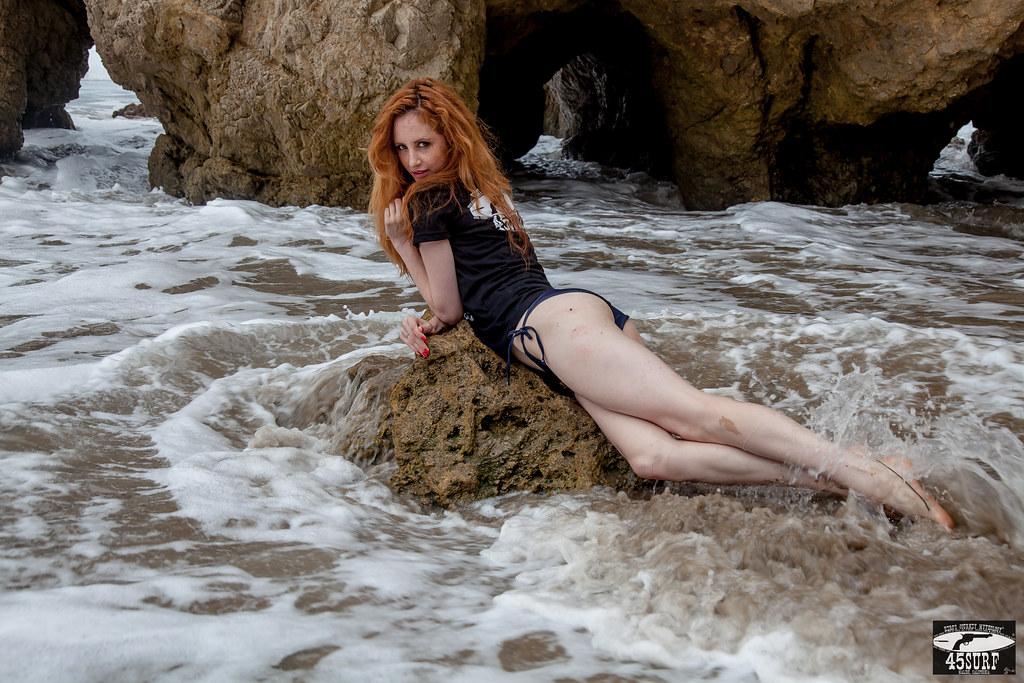 Squishy redhead bikini models 14