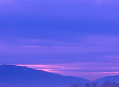 Blue Sunset (Stella VM) Tags: pink blue sunset sky mountain beautiful beauty clouds sofia bulgaria  vitosha           vision:sunset=0674 vision:outdoor=0919 vision:sky=0974 vision:clouds=0836