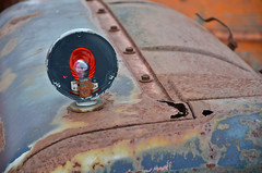 Signal Light (Paul R Lamb) Tags: old blue ontario canada lightbulb junk rust paint scrapyard scrap signal rockwood mcleans