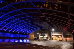 Newcastle Bridges (Neil Pulling) Tags: uk bridge england night nightshot nightview floodlit newcastleupontyne a77 highlevelbridge tyneandwear floodlighting