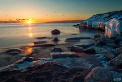 Ice Cold (Calvin J.) Tags: longexposure lake toronto ontario canada ice water sunrise landscape nikon etobicoke nikkor 24mmf14 neutraldensity colonelsamuelsmithpark d3s singhrayvarind vscofilmpresets calvinjamesphotography