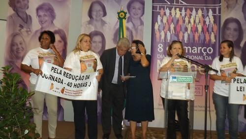 Antônio Roberto durante o Fórum Nacional de Mulheres Trabalhadoras das Centrais Sindicais