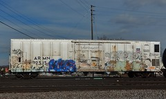WASTE x DUKE x CHORO x ? (stateofoppression) Tags: minnesota train bench graffiti panel duke trains tags mpls boxcar waste piece mn hopper railfan freight reefer choro rollingstock htf armn kose foamer gtl benching fuckinstagram