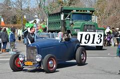 Antique Ford And Dump Truck (Joe Shlabotnik) Tags: ford antiquecar dumptruck convertible parade mack stpatricksday 2014 westhamptonbeach march2014