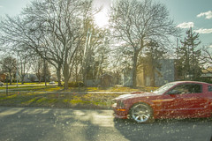 Lets ride (Jose Manuel Melendez) Tags: trees red cars ford sports clouds happy amazing cool automobile peace bright rich joy like fast sunny mustang rims
