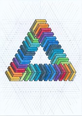 20170102 (regolo54) Tags: isometric penrosetriangle geometry symmetry pattern rainbow pencil escher oscarreutersvärd mathart regolo54