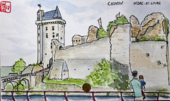 Le Tour de France virtuel - 37 - Indre-et-Loire (chando*) Tags: croquis sketch aquarelle watercolor france
