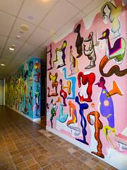 The Children's Charter (Steve Taylor (Photography)) Tags: markbraunias thechildrenscharter artgallery mural art wall colourful blue pink mad strange odd weird newzealand nz southisland canterbury christchurch city shape