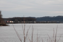 Across the Pond (CC 8039) Tags: cp ice dme trains es44ac ac44cw mississippi river savanna illinois