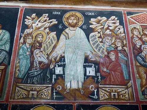 Pedoulas - Church of Archangelos Michail, interior, resurrection