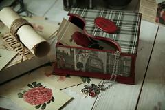 Ландон из зе кэпитал оф грейт британ)) (Button-NK) Tags: decoupage stilllife box books london countries postcards hobbies handmade