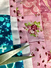 #cloth  #textile quilting (Kris_wl) Tags: scissor sewing sew pretty flower pink quilting quilt fabric macromonday cloth