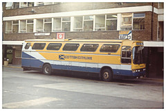 Scottish Citylink Coach at London Victoria Coach Station. (ManOfYorkshire) Tags: leyland tiger duple dominant dominant3 bodywork parallelogram windows style special scottish citylink longdistance travel coach bus victoria station london 1980s 1984 edinburgh