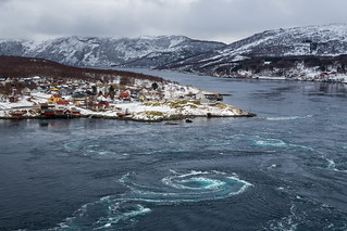 Saltstraumen tidal current, Norway