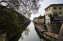 DSC_2724-editate (Federico Feroldi Foto) Tags: milano milan nikond7000 sigma185028 architecture architettura water acqua reflection navigli fiume river
