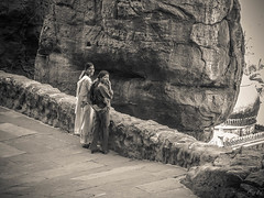 2006 India,  Badami 070.jpg (Mandir Prem) Tags: indians ancient wildlife asia backpakers india exotic travel bw outdoor temple nature places badami