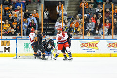 "Missouri Mavericks vs. Allen Americans, March 10, 2017, Silverstein Eye Centers Arena, Independence, Missouri.  Photo: © John Howe / Howe Creative Photography, all rights reserved 2017 • <a style=""font-size:0.8em;"" href=""http://www.flickr.com/photos/134016632@N02/33023731590/"" target=""_blank"">View on Flickr</a>"