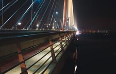 The line (Master Iksi) Tags: bridge night belgrade beograd srbija serbia canon city urban architecture