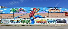 Born In East LA Mural (beatruoriginator) Tags: bordercrossing mexicanamerican latinoculture culture graffiti mural usmexicanborder illegalalien illegal elpaso