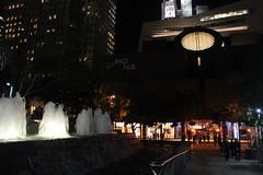 Bright Fountains, Dark Night (JB by the Sea) Tags: sanfrancisco california february2017 sanfranciscomuseumofmodernart sfmoma financialdistrict night yerbabuenagardens