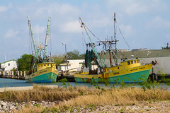 Shrimpers (Lindell Dillon) Tags: shrimpboats texas portisabel lindelldillon harbor trawler