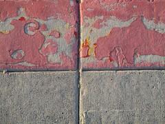 Four quadrants (lesraquettes) Tags: abstract urban quadrants squares urbangeometry red gray geometric southwestusa pavement