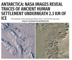 Antarctica - NASA Images Reveal Traces of Ancient Human Settlement Underneath 2.3 km of Ice (Exopolitika Magyarország) Tags: antarctica anomaly secret ruling elites