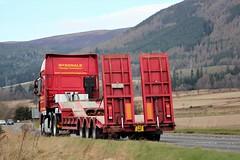 McDonald Haulage Contractors Invergordon DAF XF YX11 XNF A9 Alness (Kilmachalmag) Tags: rosskeen scaffold steptrailer lowloader dafxf a9 alness alnesspoint