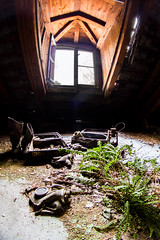 Going on a journey (keiththrn) Tags: gasmasks soviet union gas masks urbex urbanexploration wwii worldwarii coldwar shadows contrast nature naturewillout