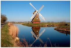 Krimstermolen (TeunisHaveman) Tags: mil molen watermolen poldermolen landschap groningslandschap boterdiep zuidwolde bedum spiegeling