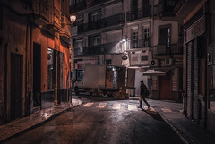 Seville streets, Spain (urbanexpl0rer) Tags: sevilla street streetphotography night nightphotography urban city truck people moody