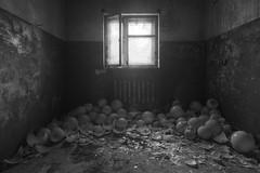 lights out (jkatanowski) Tags: abandoned forgotten decay urbex urban exploration indoor canon poland europe tokina 1116mm hdr broken glass bw