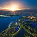 Landscape of Singapore harbor